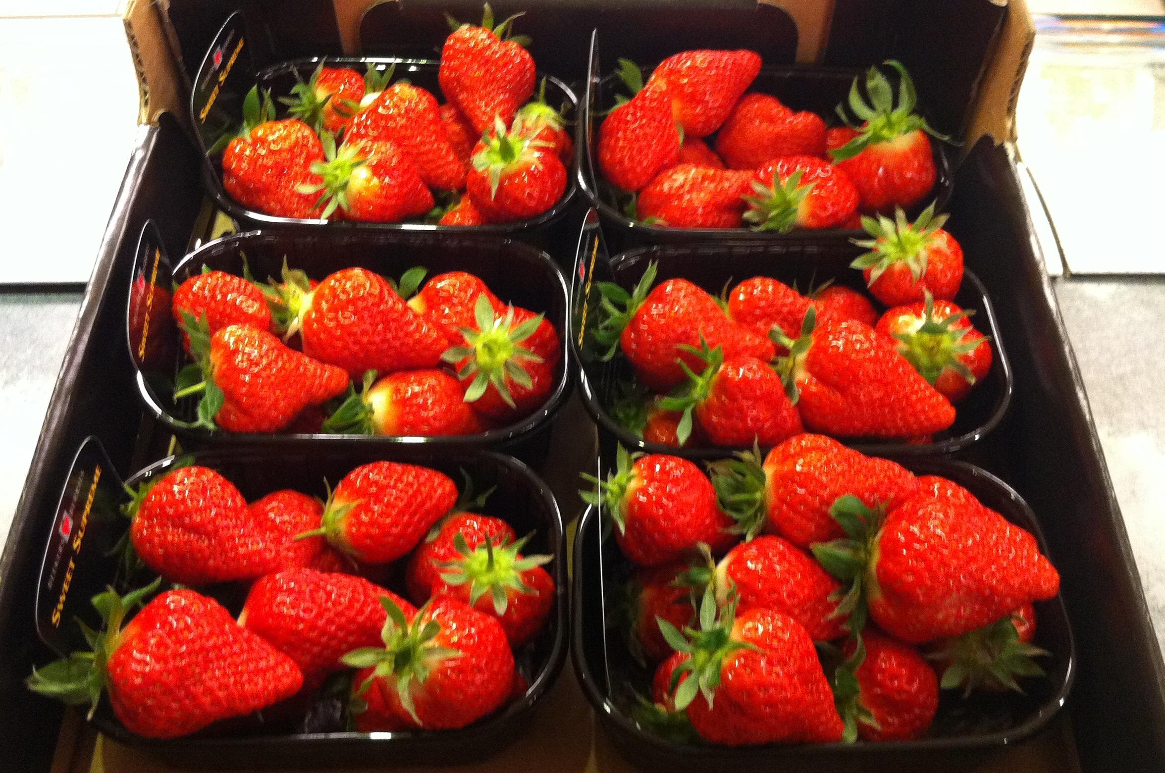 Aardbeien grote doos 500 gram