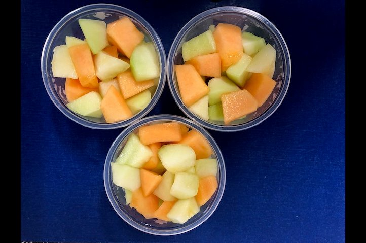 Meloen salade bakje 250 gram